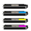 Replacement Toner HP 126A Cyan/Magenta/Yellow Original LaserJet Toner Cartridges.