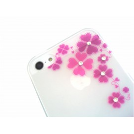 iPhone 5 /5s Silicon Strass cover Case Roses