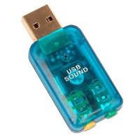 Usb  Sound Card Adapter W/Mic Port
