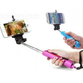 Selfie Stick Wireless Self Camera Bluetooth Monopod for IOS / Android System Devices ( Black/white/blue/pink)