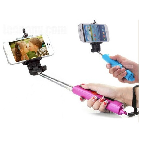 Wireless Self Camera Bluetooth Monopod for IOS / Android System Devices ( Black/white/blue/pink)