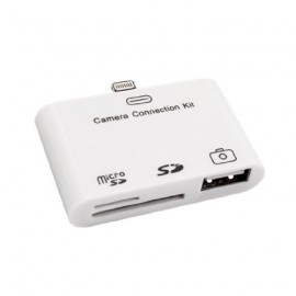 Digital Camera Connection Kit USB / SD / Micro SD Card Reader.Apple iPad Mini, iPad 4, iPhone 5/5s, iPod Touch 5 & iPod Nano 7