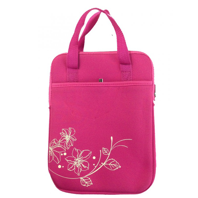 Sleeve With Handle Laptop Bag Green Pink Black Blue