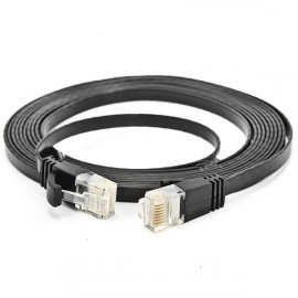 10m Cat6 RJ45 Giga High Speed Ultra-thin Flat LAN Network Cable Black