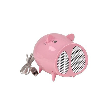 Pig Shape Fun Speakers and Fm radio . (Black and White colors)