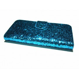 Glitter sparkly flip wallet case for iPhone 4/4S - 5/5S