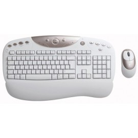Wireless USB Access Duo Keyboard Logitech  & PS/2 Mouse (BROWN BOX)