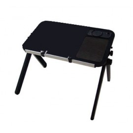Aluminum Laptop Table and stand with Mouse Pad, Cup Pad and Pen Holder-Folding Lap Desk-Portable Notebook Table
