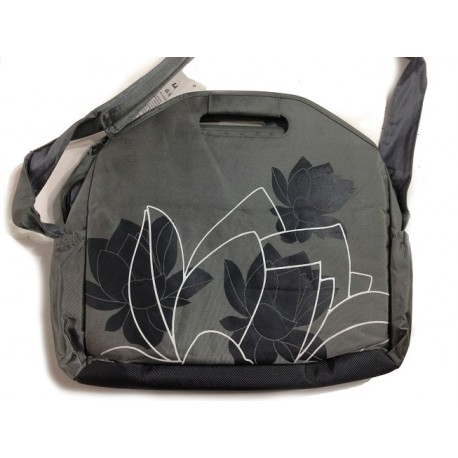 Floral Print Laptop Computer Briefcase Messenger Shoulder Bag Carrying Case fits up to 15.4 inch
