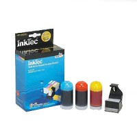 Inktec  Refill Kit Inkjet Cartridge-Cyan/Magenta/Yellow