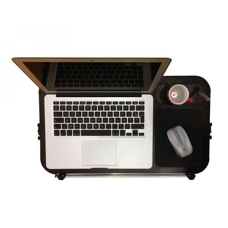 Lap Desk Aluminum Laptop Table And Stand With Mouse Pad Cup Pen Holder Folding