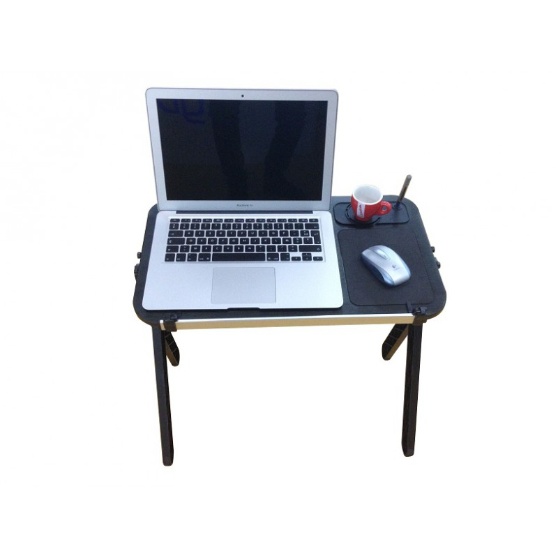 Aluminum Laptop Table And Stand With Mouse Pad Cup Pen Holder Folding
