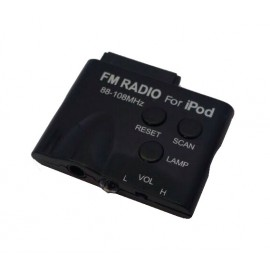 Mini FM Transmitter for iPod Black (Oem) (No Packaging)