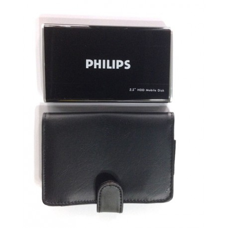 "Philips usb 2.5"" SATA enclosure kit  + leather case protection"