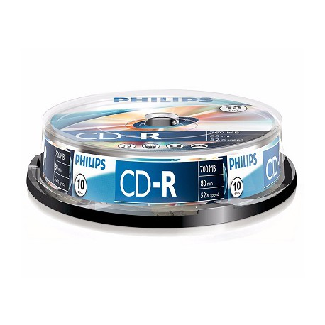 Philips CD-R 700MB Pack of 10