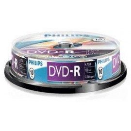 Philips DVD-R 16x 4.7GB/120 Minute Disc 10 Pack