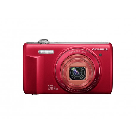 Olympus VR-340 Red 16MP Digital Camera with 10x Optical Zoom