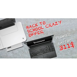 Crazy Offer lenovo B50 Dual core 4gb 320GB windows original + Hp 3 in 1 1510 Printer