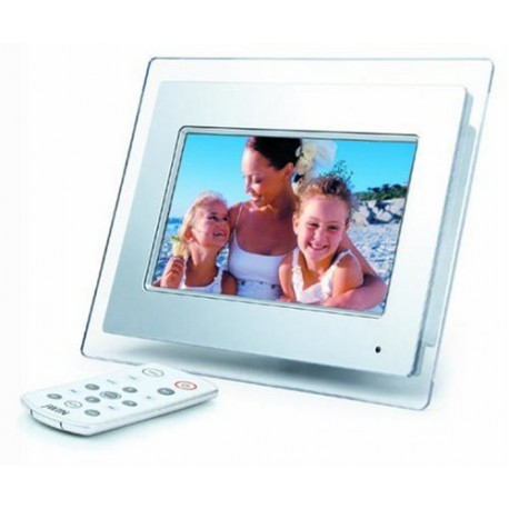 7-Inch LCD Digital Picture Frame (White)