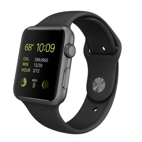 iWatch apple watch 42mm Space Gray Aluminum Case with Black Sport Band