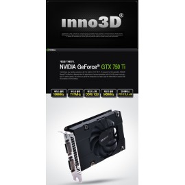 Innovison GTX 750 Ti 2 GB DDR5 DUAL DVI + MINI HDMI 128 BIT OVERCLOCKED Green Edition