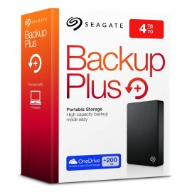 4TB, External Portable Hard Drive Seagate Backup Plus (STDR4000200) USB 3.0 2.5 inch