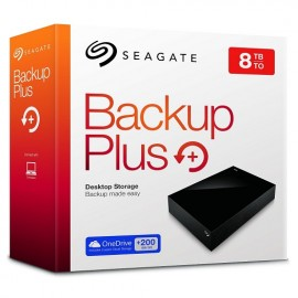 8TB 3.5inch USB 3.0 EXTERNAL HDD  Seagate STDT8000200 - BACKUP PLUS DESKTOP