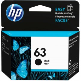 HP 63  Black  Original Ink  Cartridge F6U62AN