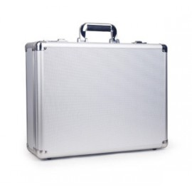 Aluminum Laptop Tablet Security Travel Macbook Briefcase Lock Silver