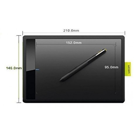 Wacom Bamboo One CTL471 Drawing Pen Small Tablet for Windows and Mac including Black Standard Nibs