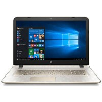 "HP Pavilion 17.3"" Laptop, HD+ Display, AMD A4-6210 Quad-Core, 6GB DDR3, 1TB SSHD, Win10H - Pale Gold"