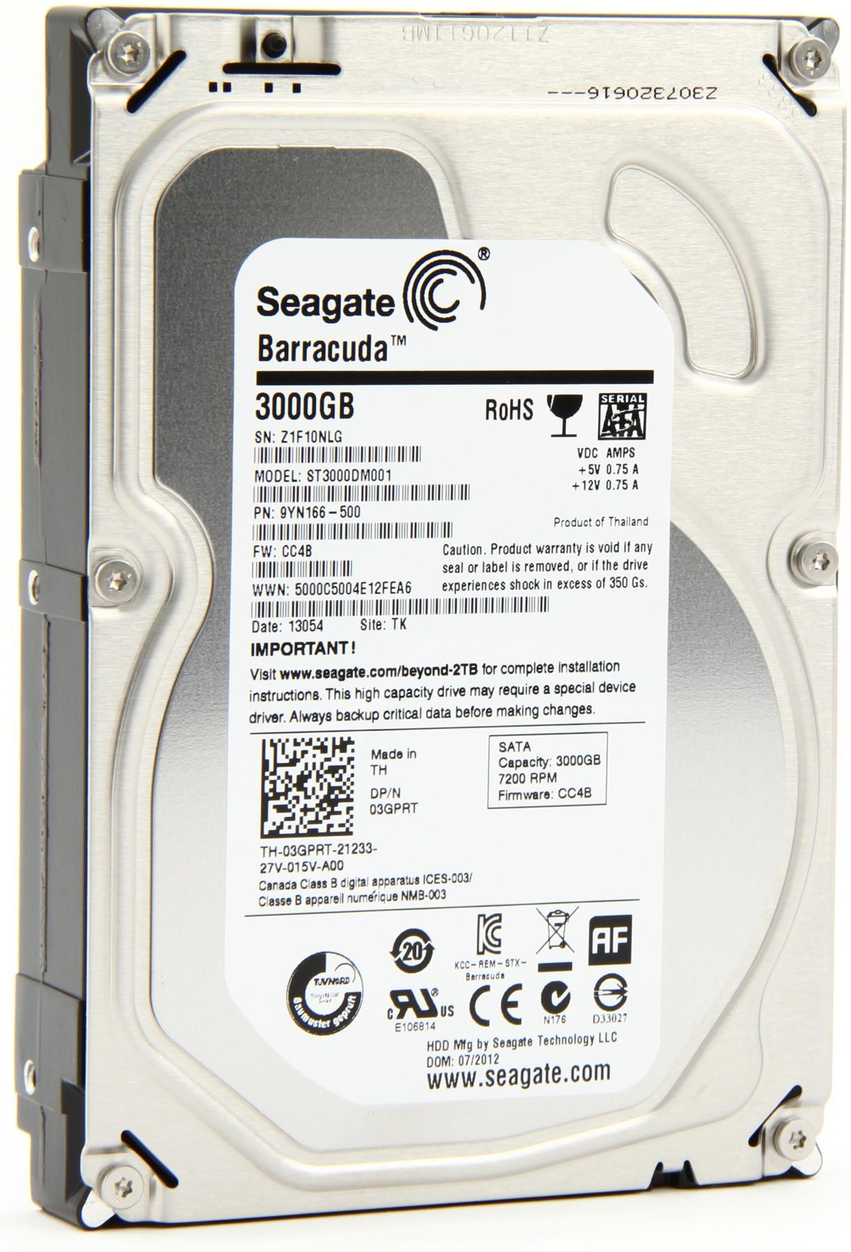 Hard Drive 3tb Seagate Sata 7200 Rpm St3000dm001 64mb 35 Casing Hardisk Usb 30 25
