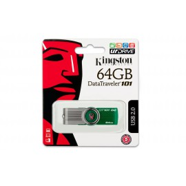 USB Flash Drive 64GB  Kingston Digital DataTraveler 101 G2  Green
