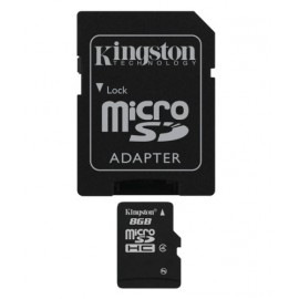Micro SD HC - Class 4 8GB Kingston memory card