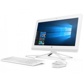 "HP 24-G011 ALL-IN-ONE AMD A6-7310 2.0GHz 500GB 4GB 23.8"" (1920x1080) DVD-RW BT WIN10 Webcam SNOW WHITE Keyboard Mouse"