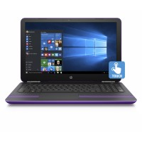 "HP Pavilion 15.6"", Touchscreen, Windows 10, AMD A9-9410 Processor, 4GB RAM, 1TB HDD purple"