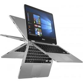 "Asus VivoBook Flip TP40CONVERTIBLE 2-IN-1 Pentium® Silver N5030 1.1GHz 128B SSD 4GB 14"" (1366x768) TOUCHSCREEN WIN10 FP Reader"