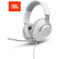 JBL Quantum 100 - Wired Over-Ear Gaming Headphones - White PC Mac XboX Playstation Nintendo Switch