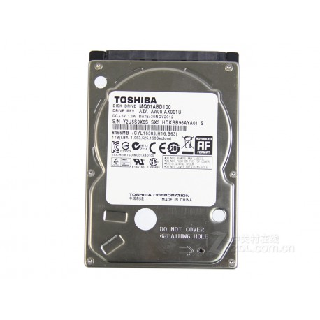 Toshiba 2.5-Inch 1TB 5400 RPM SATA2/SATA 3.0 GB/s 8MB Notebook Hard Drive MQ01ABD100