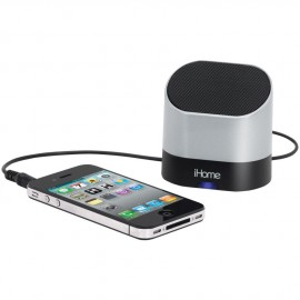 iHome iHM63S Rechargeable Mini Speaker Silver