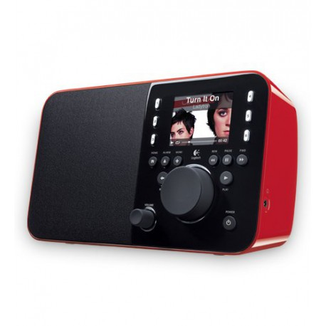 Logitech Squeezebox Radio Music Player with Color Screen (Red)
