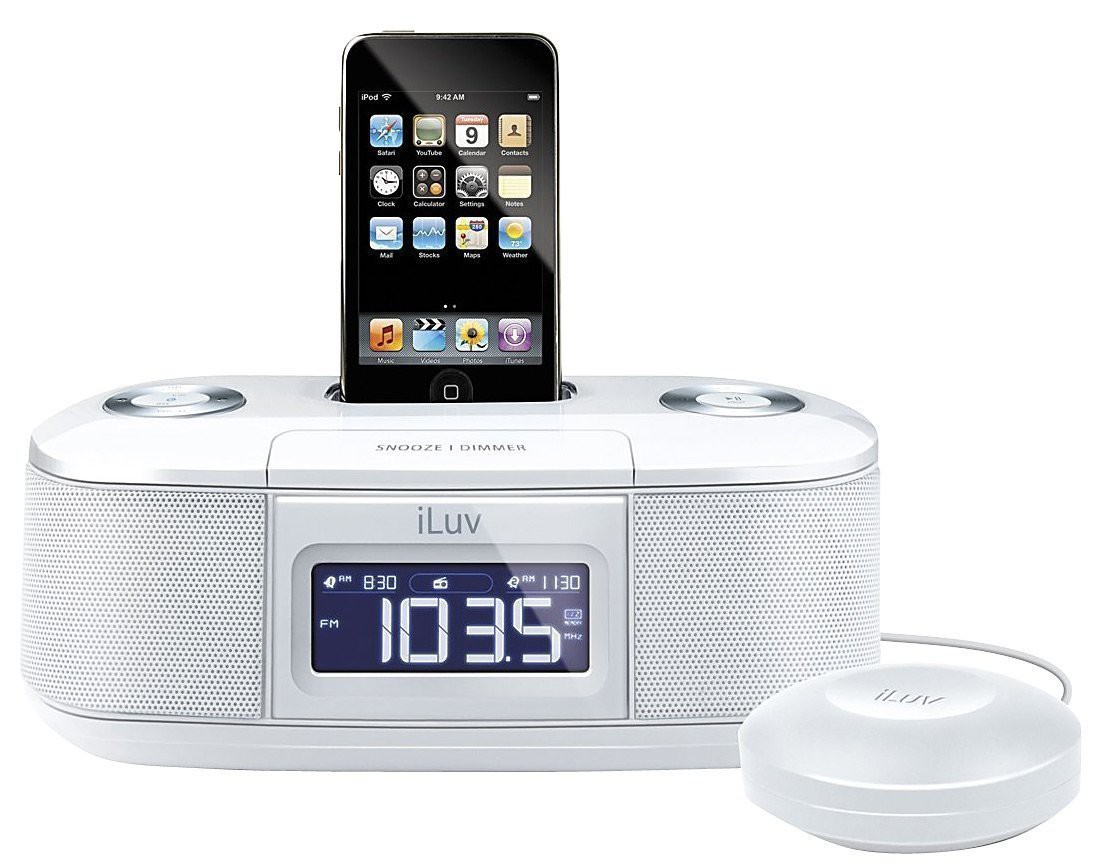 Ipod Pillow Ipod Iphone Alarm Clock Speaker Dock Iluv Vibro I Bed Shaker 30 Pin