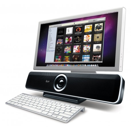 iLuv Stereo Speakers for Mac/ PC and Laptops (iSP200BLK)‏