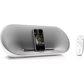 Philips Fidelio DS8500 Speaker Dock with Remote for iPod/iPhone (White/Silver) (Refurbished)