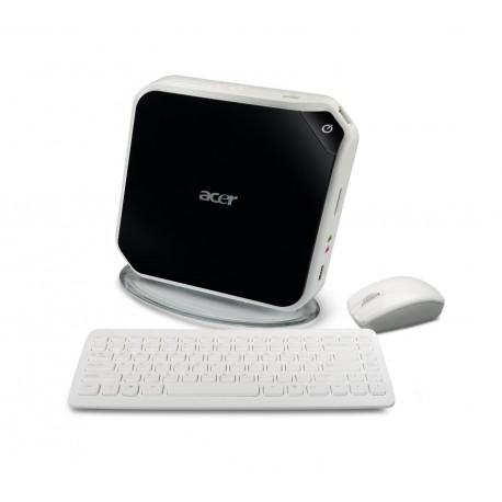 Acer AspireRevo AR1600-U910H Black/White Mini Desktop PC (Windows XP Home)