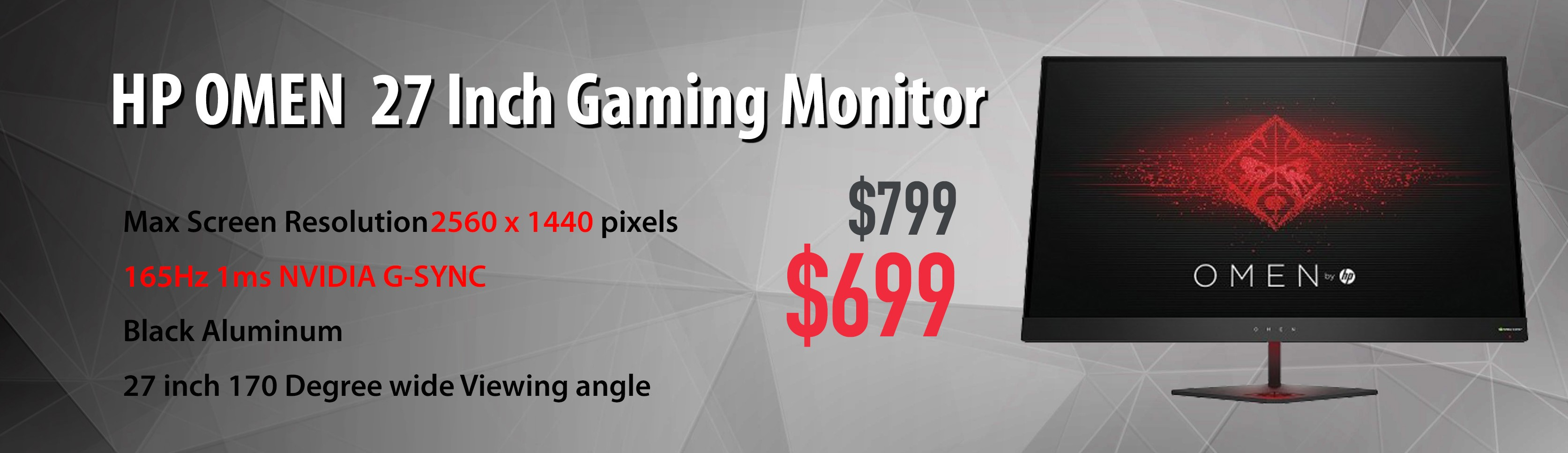 Hp Omen Gaming Monitor G SYNC